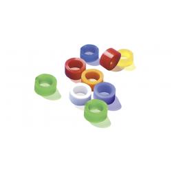 Bague d'identification  5mm 100 bagues  11 couleurs assorties