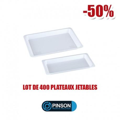 Plateaux Jetables Non-Compartimentés 20x10cm - 400Pcs